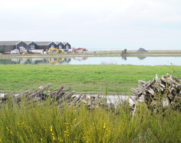 Travaux sur la lagune d'eau de mer