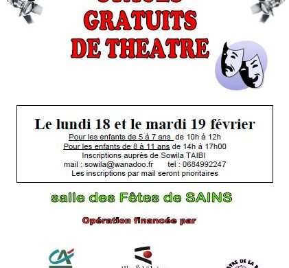 STAGES GRATUITS DE THEATRE
