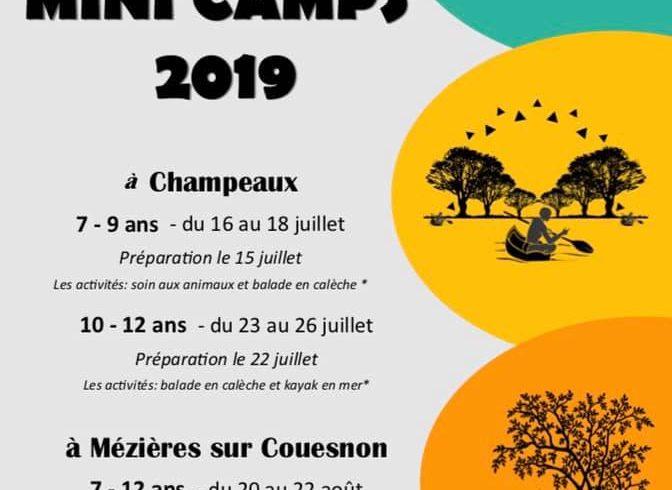 Lancement des inscriptions pour les mini-camps 2019 de l'accueil de loisirs de PLEINE-FOUGERES