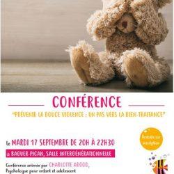 """Soirée conférence """"prévenir la douce violence : un pas vers la bien-traitance"""""""