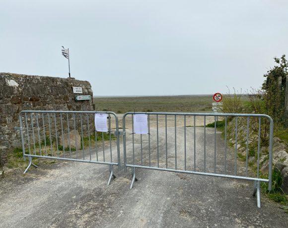 Interdiction d'accès à la digue et à la plage