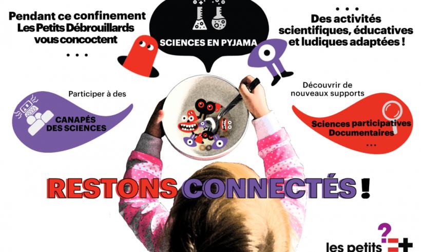 La Lettre d'Info 35 : les petits débrouillards réagissent / restons connectés / les sciences en pyjama / Jamy sort sa propre chaîne Youtube !