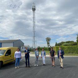 Orange renforce son réseau 4G avec l'ouverture d'un nouveau site mobile au Vivier-sur-Mer, dans le cadre du programme Orange Territoire connectés