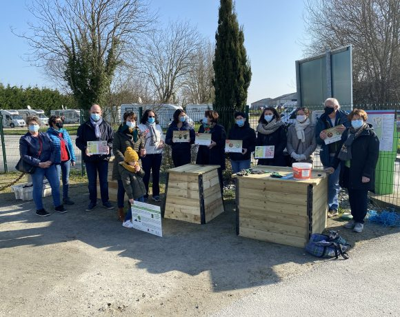 Inauguration de la première aire de compostage au Vivier-sur-Mer